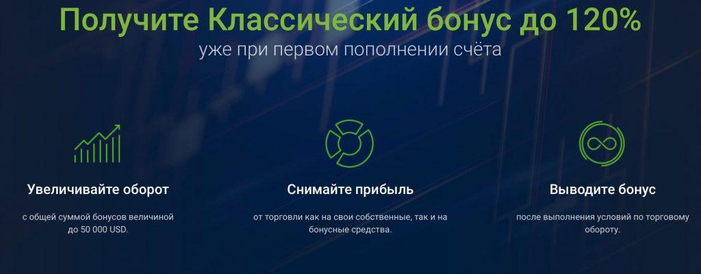 Бонус 120% на депозит от Roboforex (Робофорекс)