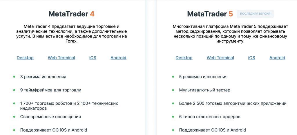 торговые терминалы MetaTrader 4, MetaTrader 5 от weltrade