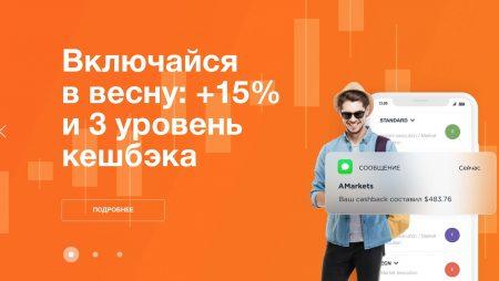 Весна с Брокером AMarkets +15%