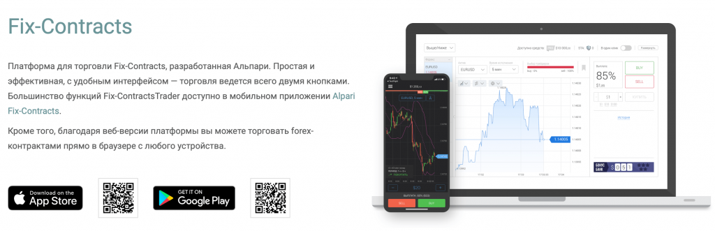 Платформа Fix-ContractsTrader от Альпари