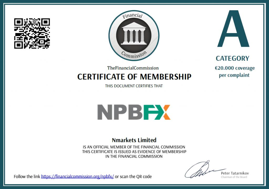Лицензия форекс брокера NPBFX