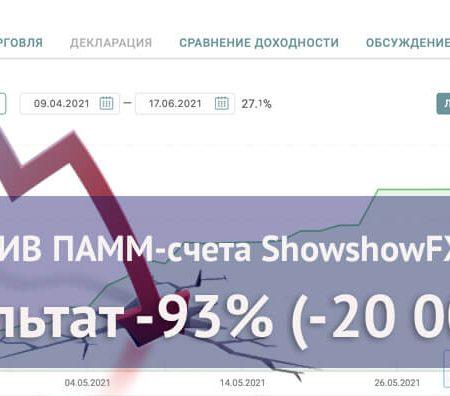 Падение EUR USD убило ПАММ-счет ShowshowFX от Альпари